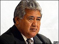 Samoan Prime Minister Tuila'epa Sailele Malielegaoi