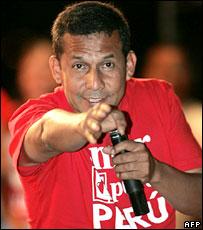 Ollanta Humala, Peruvian presidential candidate