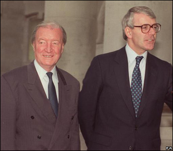 British Prime Minister John Major during his visit to Dublin for talks with Irish Prime Minister Charles Haughey