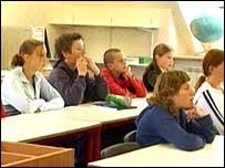 Sark School pupils