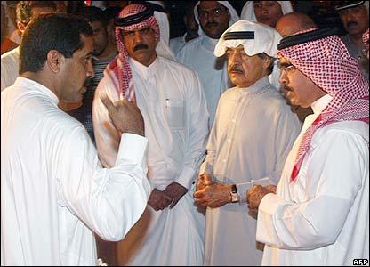 Prime Minister Sheik Khalifa Bin Salman al-Khalifa (second right)