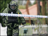 An Australian policeman during an anti-terror raid