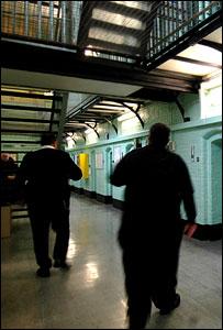 Inside a prison wing