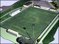 Artist's impression of new Maidstone United ground
