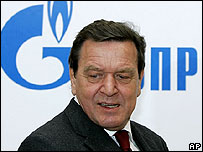 Gerhard Schroeder at HQ of Russian gas giant Gazprom