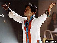 Prince at the Brit Awards
