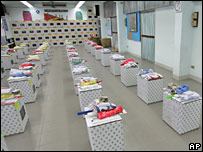 Ballot boxes in Bangkok