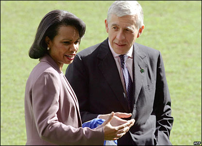 Condoleezza Rice and Jack Straw in Blackburn on Friday