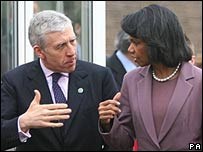 Jack Straw and Condoleezza Rice