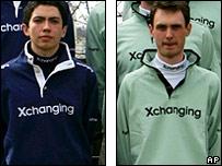 Oxford cox Seb Pearce and Cambridge cox Peter Rudge
