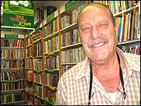 Bookshop owner Avigdor Shachan