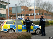 Police outside Stafford Hospital