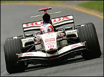 Rubens Barrichello in his Honda at the Australian Grand Prix