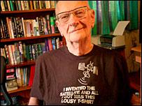 Science fiction author Arthur C Clarke