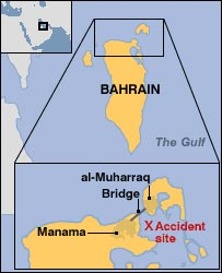 Boat accident site map