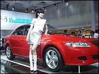Muestra de autos en China