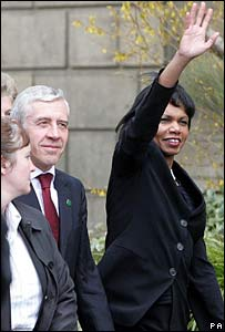 Condoleezza Rice and Jack Straw