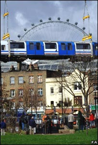 Waterloo and City carriage being removed