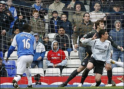 Emile Heskey watches his shot go over the bar