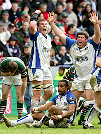 Bath celebrate their remarkable victory