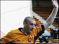 Jim Hamilton celebrates his goal