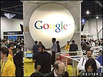 جانب من رواق لجوجل في أحد معارض التكنولوجيا