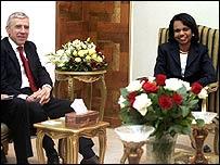 Jack Straw and Condoleezza Rice in Baghdad