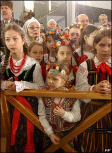 Ceremony in Lagiewniki, Krakow, southern Poland