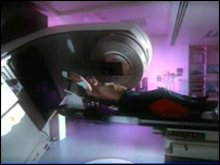 A patient undergoes radiotherapy