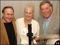 Trevor Harrison (Eddie Grundy), Christine Hunt and Terry Wogan