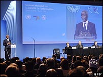 Kofi Annan at the World Summit on the Information Society