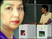 Polling station in Bangkok