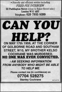 Local newspaper advert