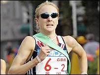 Paula Radcliffe in her last competitive outing in Japan last November