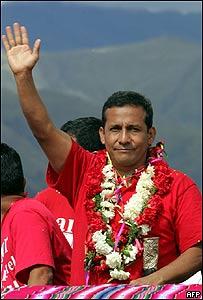 Ollanta Humala, candidato presidencial peruano.