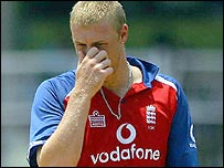 Andrew Flintoff and his fellow seam bowlers struggled in Goa