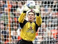 Dundee United goalkeeper Derek Stillie