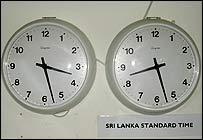 Clocks in the BBC Sinhala offices