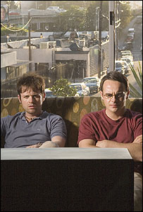 Declan Donnelly and Ant McPartlin in Alien Autopsy