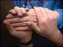 Older person's hands