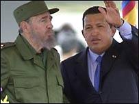 Fidel Castro y Hugo Ch�vez