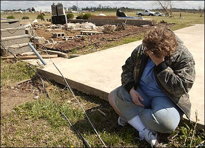 Betty Sisk's home was destroyed when a tornado ripped through Tennessee