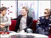 Aha members Morten Harket, Magne Furuholmen and Pal Waaktaar