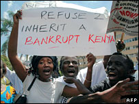 Anti-corruption protesters in Kenya