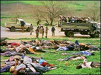 Dead bodies at Halabja