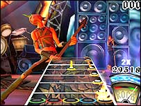 Screenshot of Guitar Hero