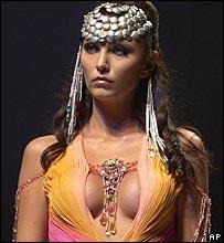 Model at Mumbai fashion week