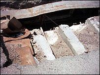 Hole in bridge