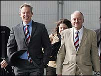 Tony Blair and Ken Livingstone at City Hall in London