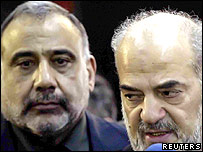 Vice President Adel Abdul Mahdi (left) with Prime Minister Ibrahim al-Jaafari in February 2006